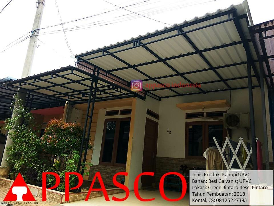 Kanopi Atap UPVC Modern di Green Residence Bintaro