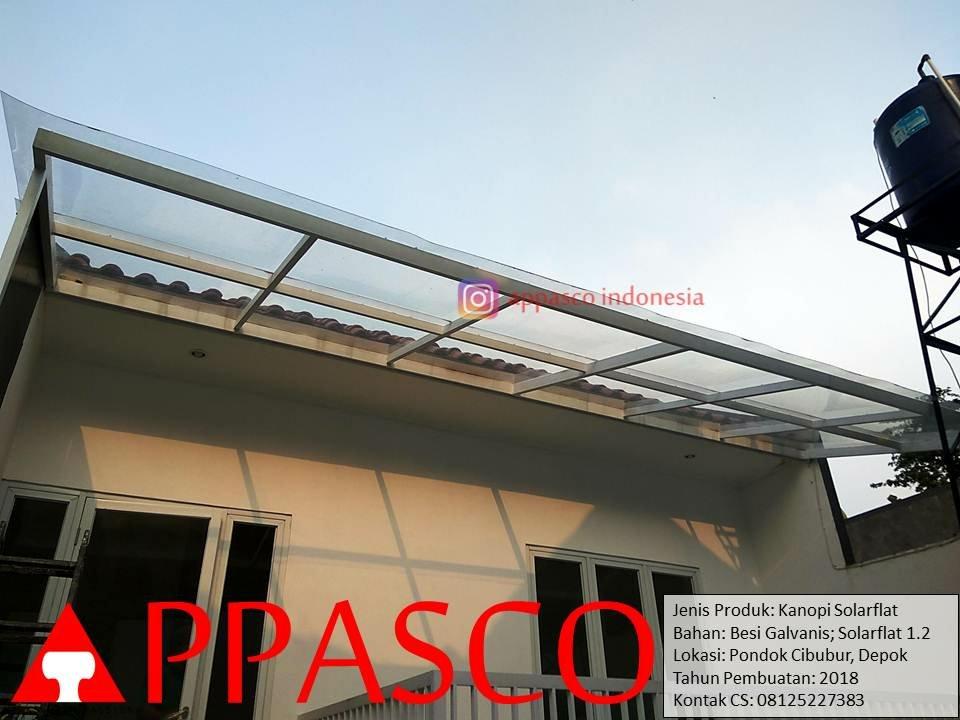 Kanopi Atap Solarflat Transparan di Cibubur Depok