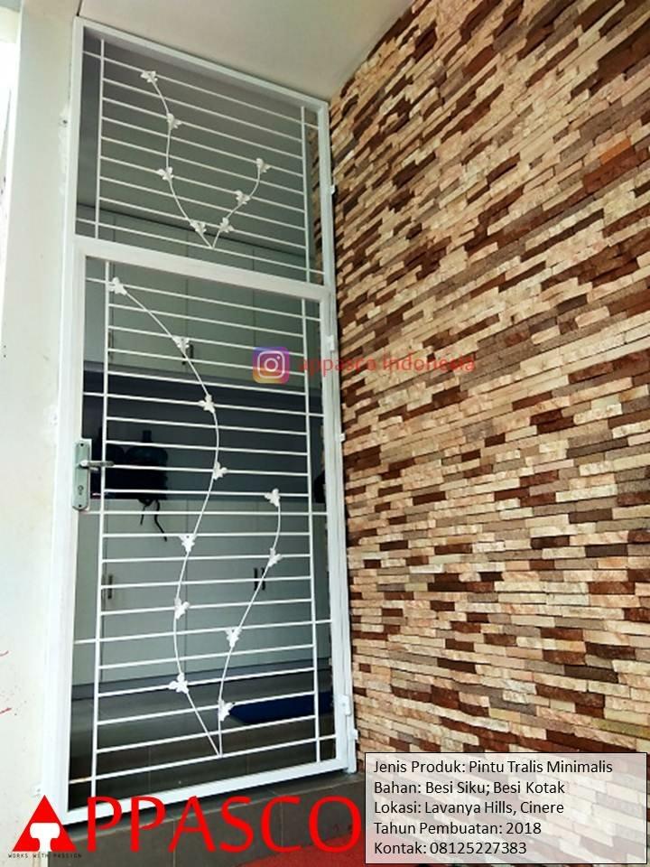 Pintu Teralis Besi Model Minimalis Modern di Lavanya Hills Cinere