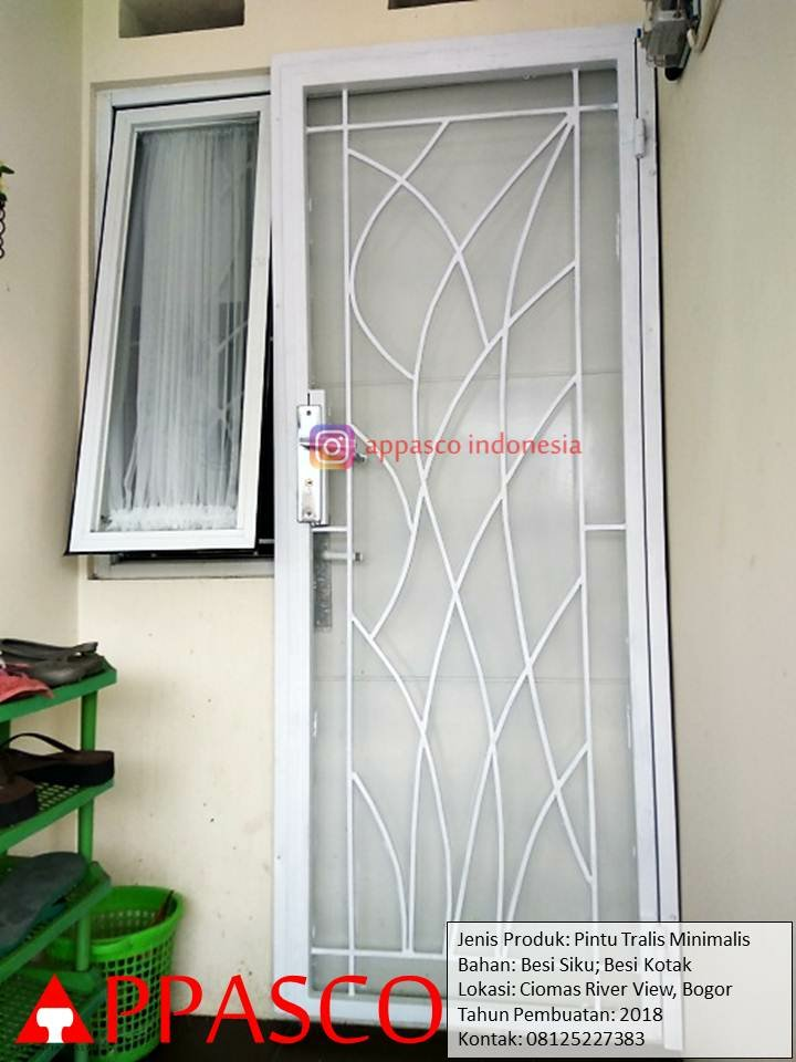 Pintu Teralis Besi untuk Pintu Samping