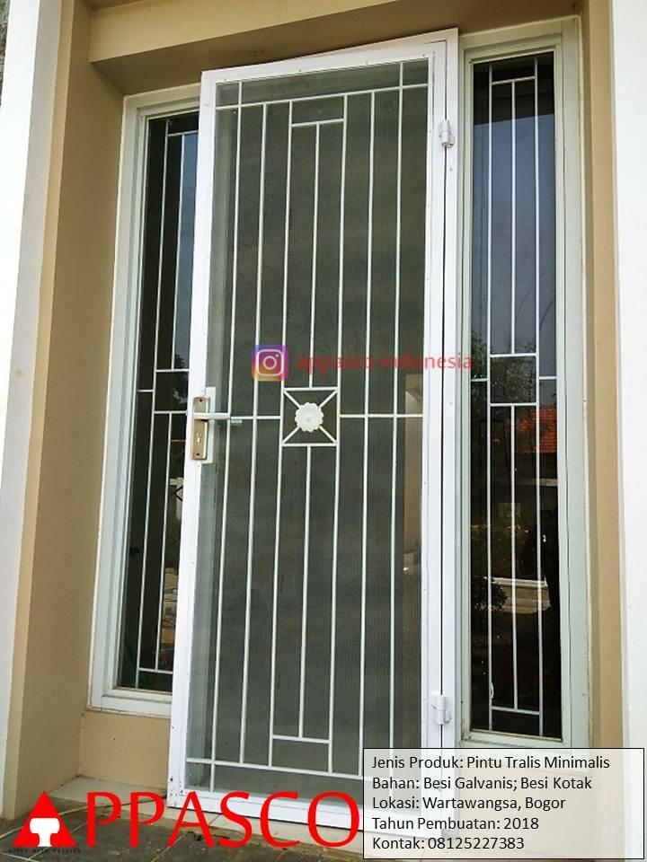 Pintu Teralis Besi Galvanis di Wartawangsa Bogor