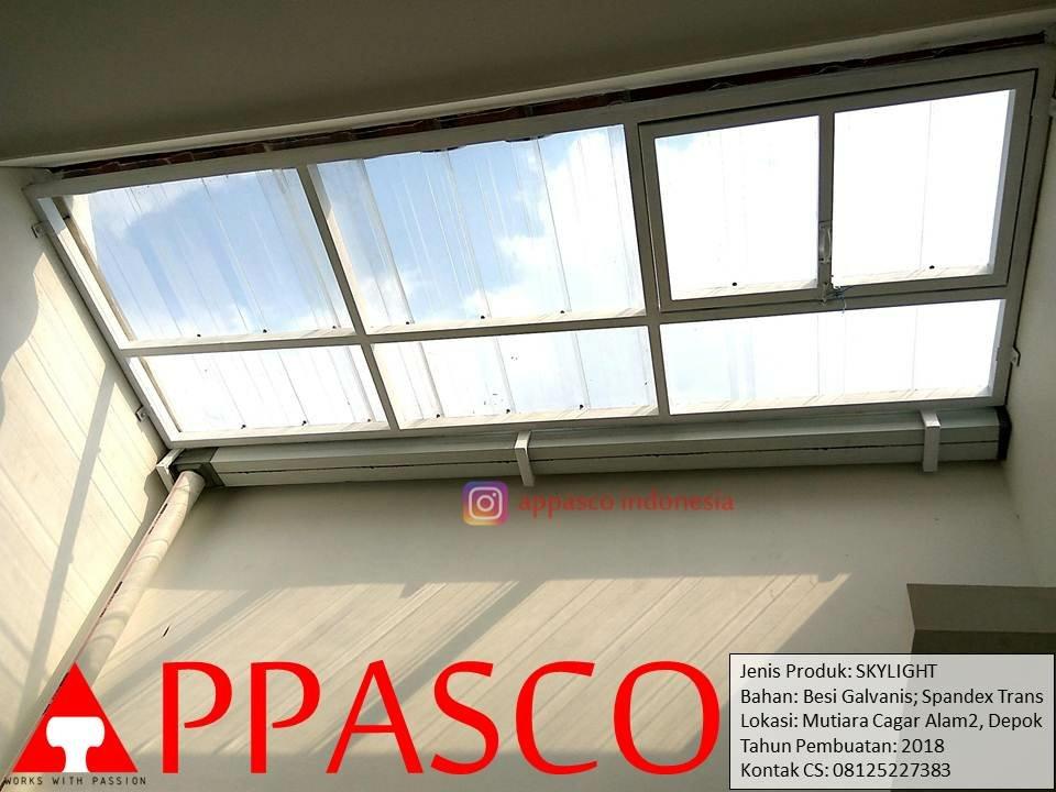 Skylight Kanopi Atap Belakang Rumah Di Mutiara Cagar Alam Depok