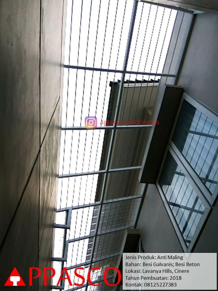 Teralis Atap Rumah Anti Maling Skylight di Lavanya Hills Cinere