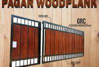 pagar woodplank GRC
