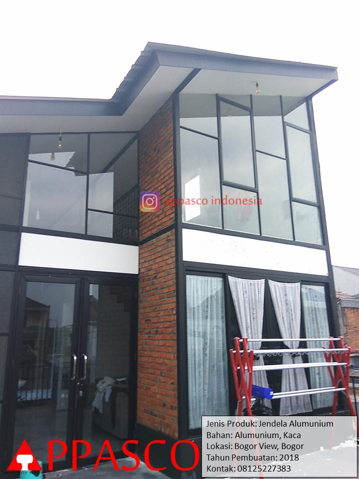 Jendela Aluminium dan Kaca di Bogor View