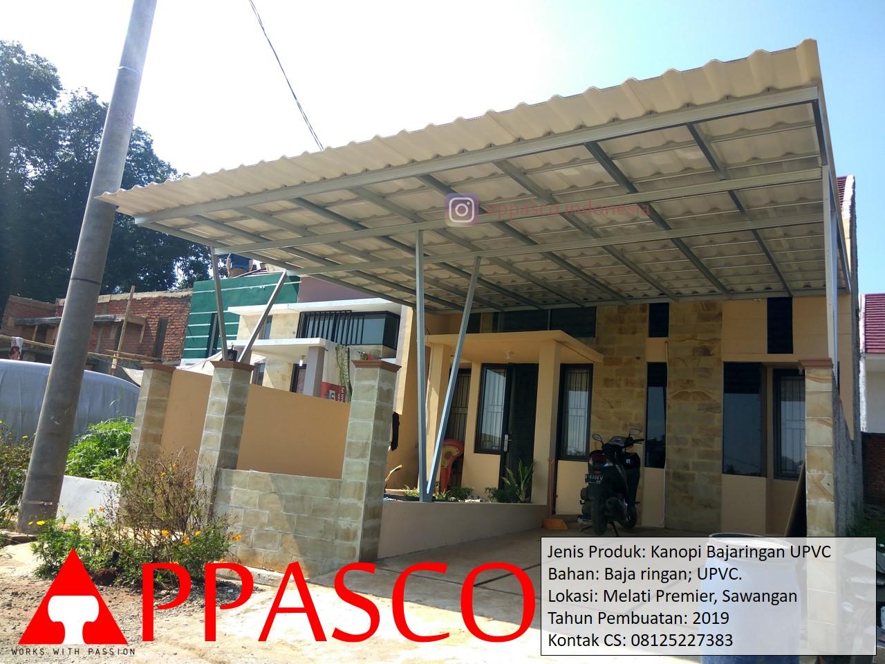 Kanopi Baja ringan UPVC di Sawangan