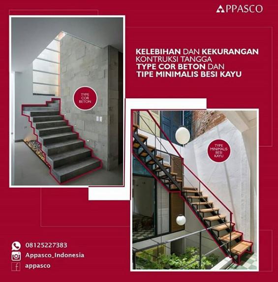 kelebihan dan kekurangan tangga cor dan tangga besi kayu