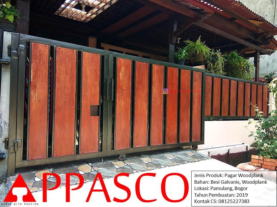 Pagar Minimalis Galvanis Woodplank di Pamulang