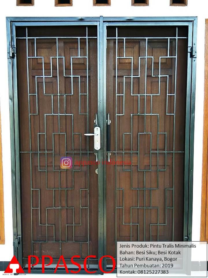 Pintu Teralis Minimalis di Puri Kinaya Bogor