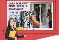 Cara Merawat Pintu Teralis Minimalis