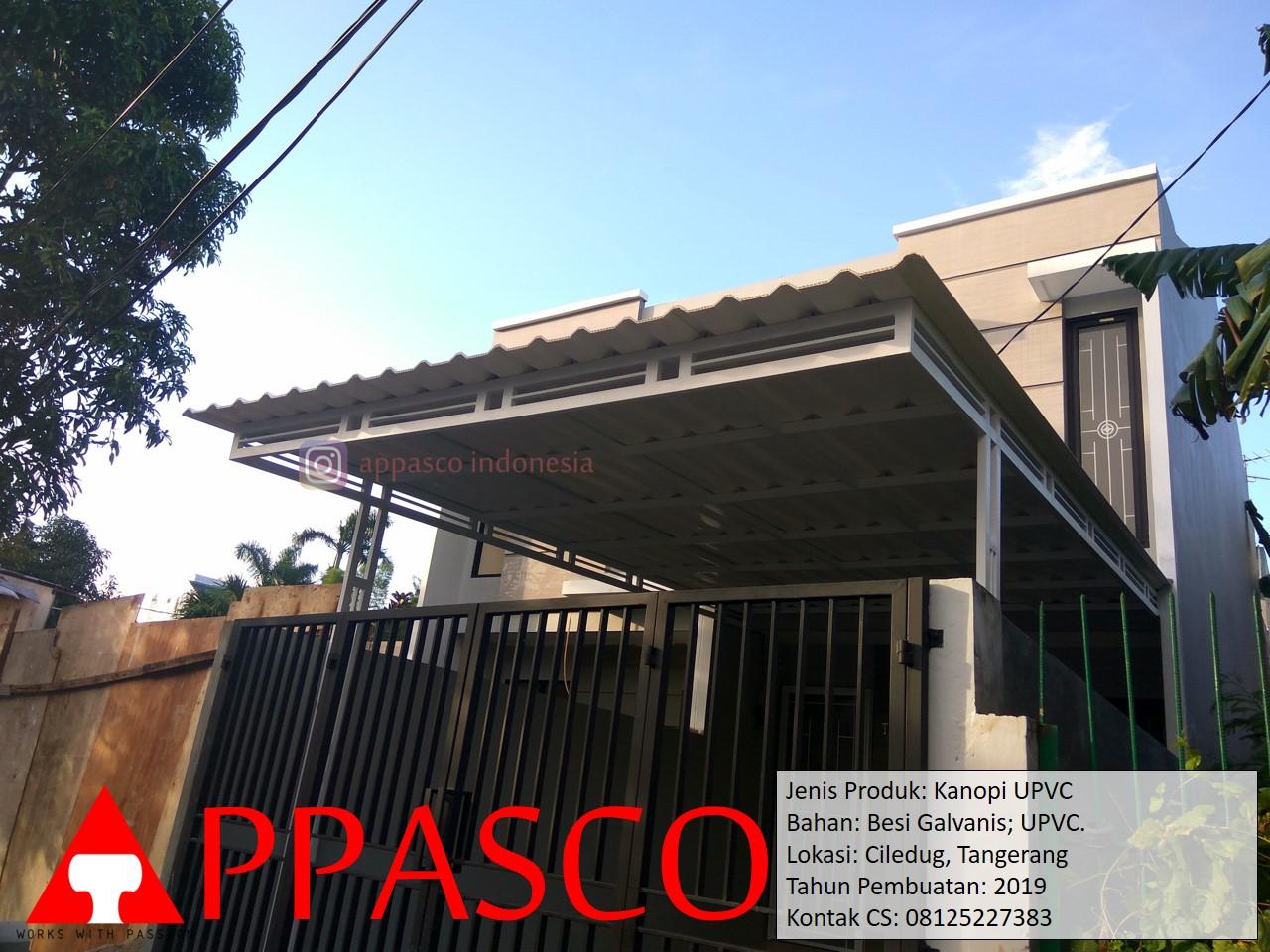 Kanopi Minimalis UPVC di Ciledug Tangerang