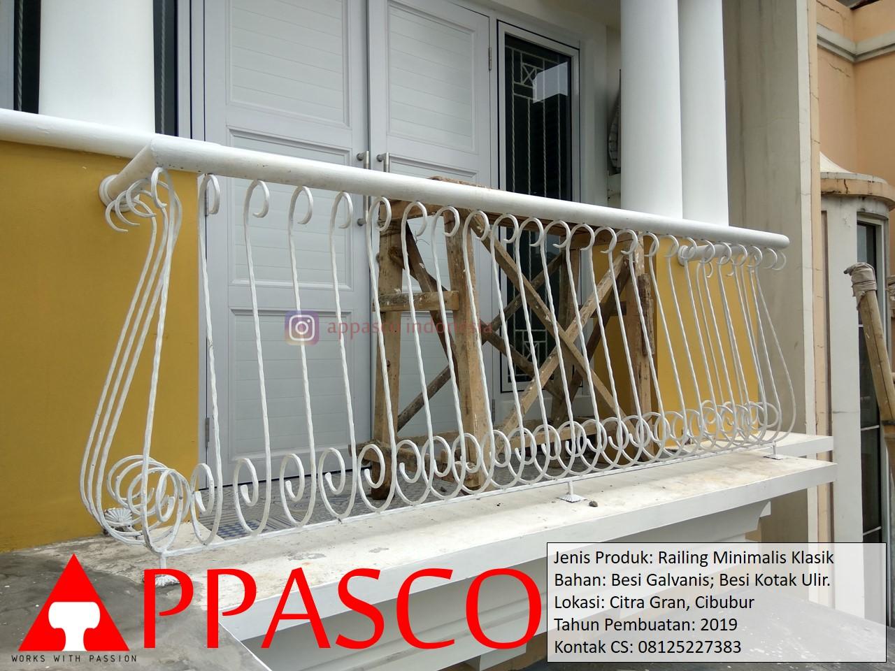 Pagar Balkon Klasik Ulir di Citra Gran Cibubur