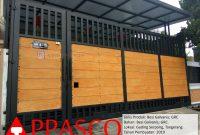 Pagar Dorong Woodplank Minimalis Cantik di Gading Serpong Tangerang