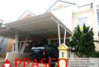 Kanopi Minimalis Atap UPVC Tiang V Besi Hollo Galvanis di Legenda Wisata Cibubur