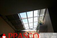 Kanopi Skylight Atap Spandek Transparan yang Cantik di Nusa Indah Bogor