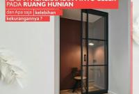 Pintu Geser Kaca Minimalis yang Keren Harga Murah