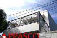 Railing Balkon Minimalis Besi Galvanis dan Ulir di Bogor