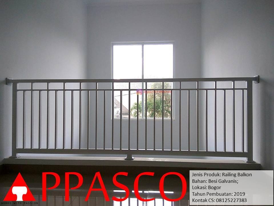 Railing Balkon Minimalis Untuk Lantai 2 Rumah di Bogor