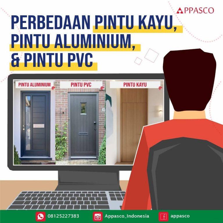 Perbedaan Pintu Kayu, Aluminium dan PVC