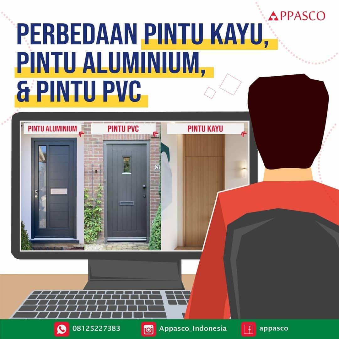 Perbedaan Pintu Kayu Aluminium dan PVC