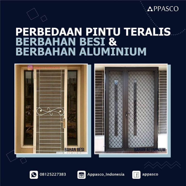 Perbedaan Pintu Teralis Besi dan Pintu Teralis Aluminium