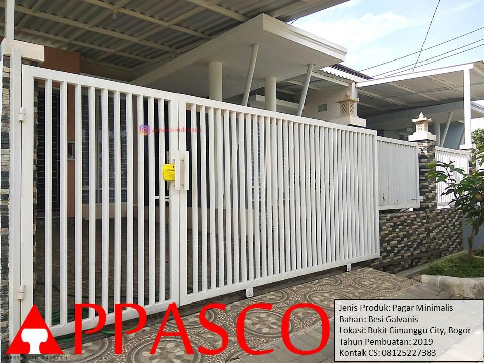 Pagar Minimalis Besi Hollow Galvanis Bukit Cimanggu City Bogor