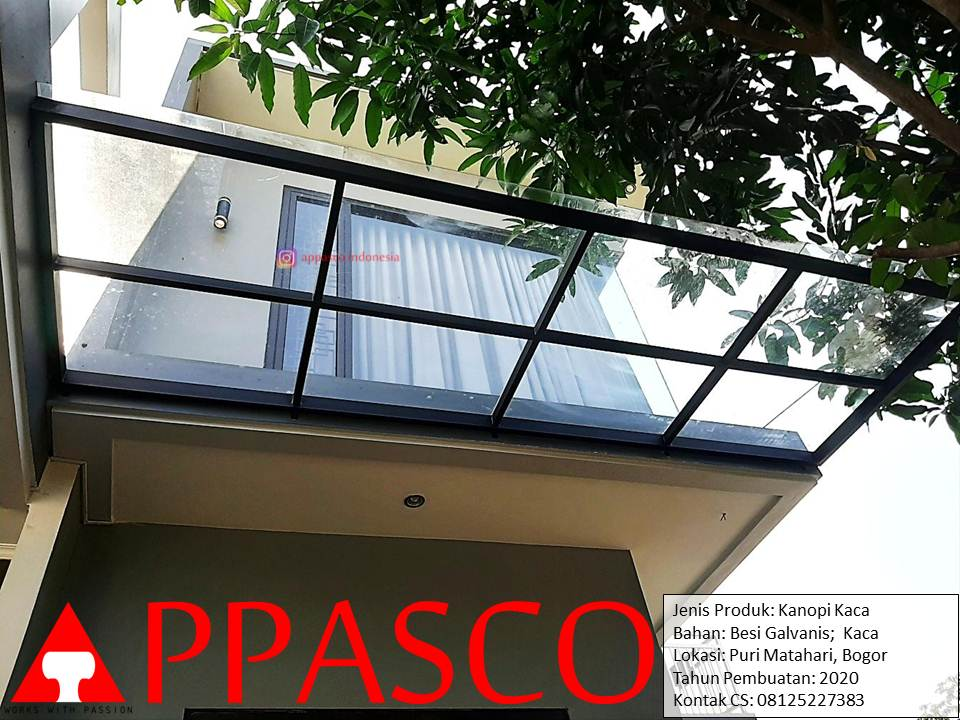 Kanopi Kaca Teras Rumah Asri di Puri Matahari Bogor