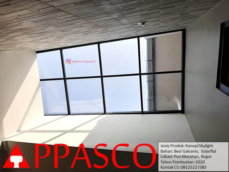 Kanopi Transparan Skylight di Sawangan