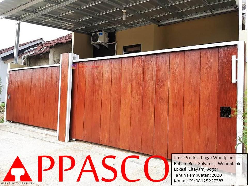 Pagar Klasik Woodplank di Citayam Bogor