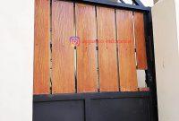 Pagar Woodplank Pintu Lipat di Bogor