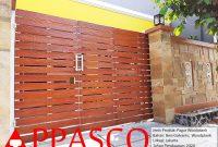 Pagar Woodplank untuk Rumah Mewah di Jakarta
