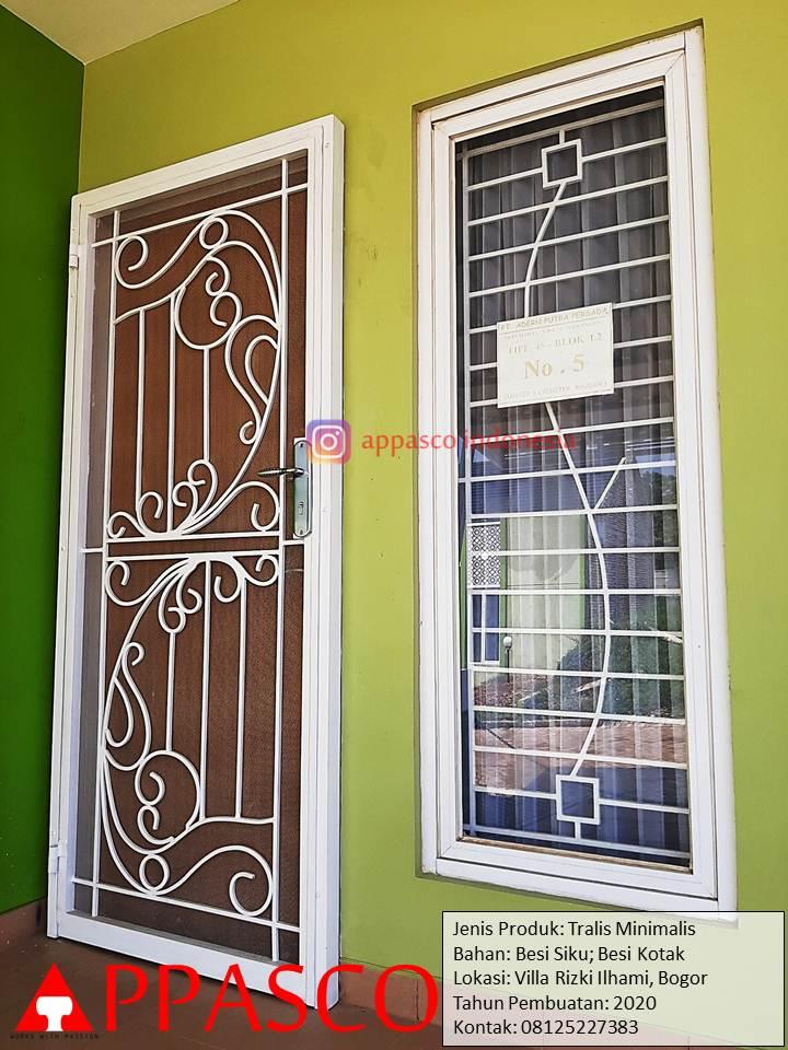 Teralis dan Pintu Teralis Minimalis Cantik di Villa Rizki Ilhami